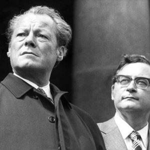 Willy Brandt und Klaus Schütz, Regierender Bürgermeister von Berlin