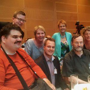 Die Delegation der SPD Weser-Ems mit dem Antragskommissionsmitglied Susanne Mittag (3.v.r.) auf dem Parteikonvent im Willy-Brandt-Haus!