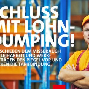 Schluss mit Lohn-Dumping