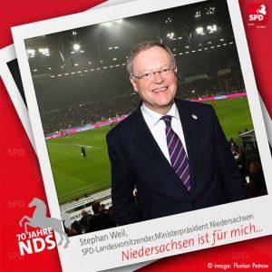 Stephan Weil für Niedersachsen