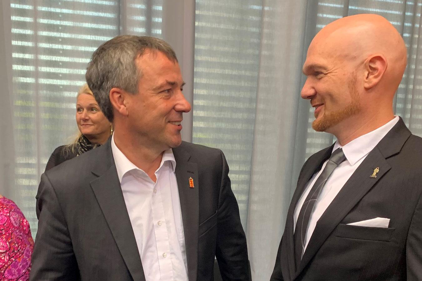 MdB Johann Saathoff und Alexander Gerst