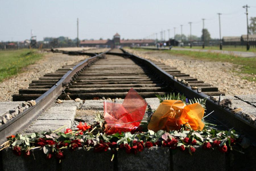 Schienen vor dem Konzentrationslager Auschwitz-Birkenau